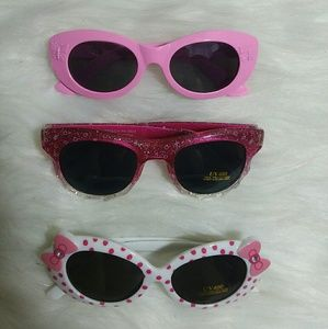 Other - NEW Set of 3 kids  girls sunglasses